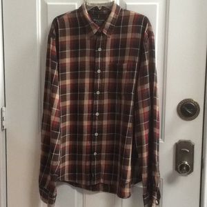💕new Abercrombie & Fitch red plaid flannel jacket